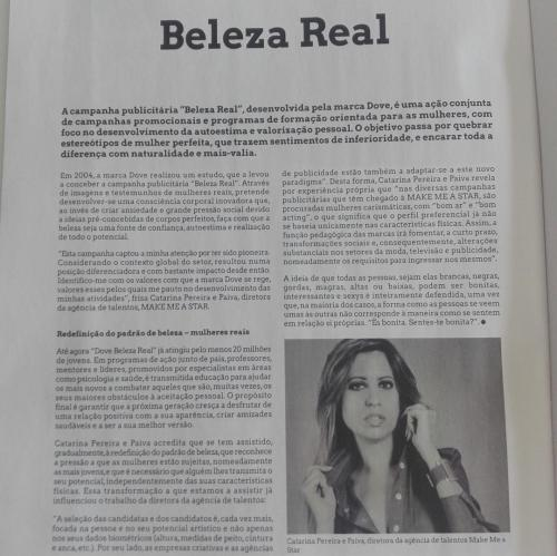 Entrevista MAKE ME A STAR à Revista Cais - Beleza Real